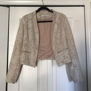 Cream lace blazer